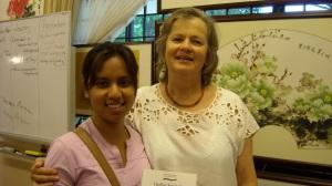 Susan Perrow and I