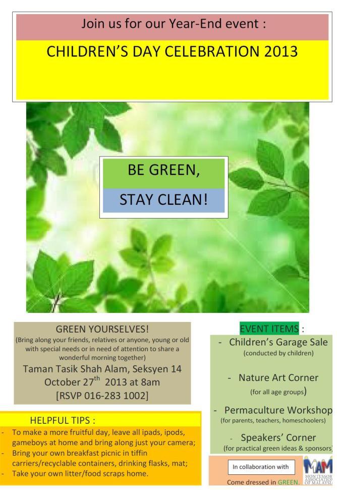 MAM green event